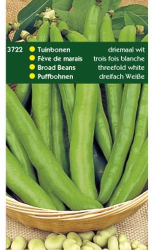 3722 Tuinbonen Driemaal Wit 250 gram