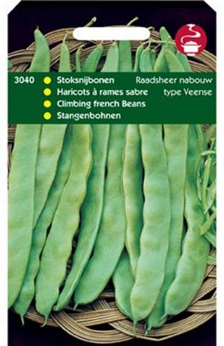 3040 Stoksnijbonen Raadsheer Nabouw (Type Veense) 100 gram