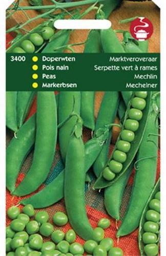 3400 Pois nain Serpette vert à rames  100 grammes