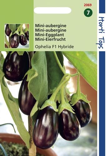 2069 HT Mini-Aubergine Ophelia F1 Hybride 10 zaden