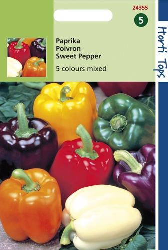 24355 HT Paprika 5 Kleuren 25 zaden