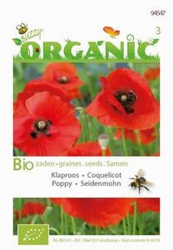 94547 BO Papaver Rhoeas Red  0,25 gram