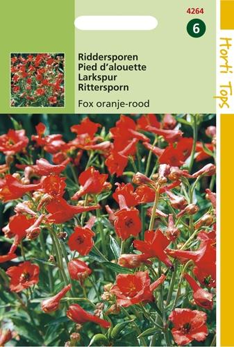 4264 HT Riddersporen Fox oranje-rood 25 zaden