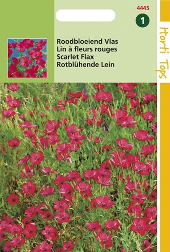 4445 HT Lin à fleurs rouges  1,5 grammes