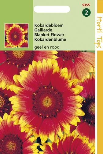 5355 HT Kokardebloem Rood en Geel 0,75 gram
