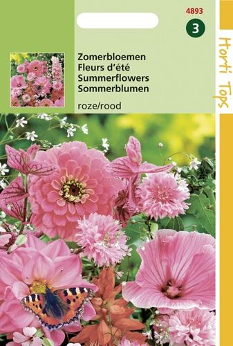 4893 HT Zomerbloemen roze / rood 2 gram