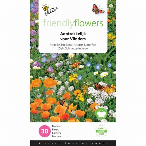 Friendly Flowers Mix Vlinders Laag 15m²